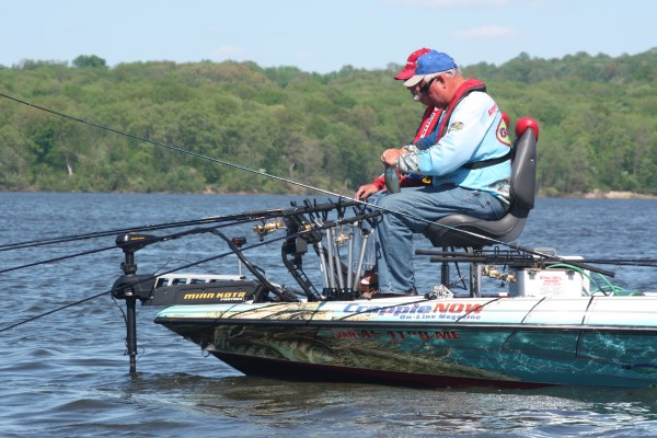 Dannemueller and Steele, the Crappie Country/ Bobby Garland team, uses slow trolling tactics on many of the lakes they fish competitively.