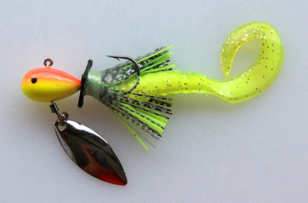 A typical ¼-ounce Les Smith power trolling jig.