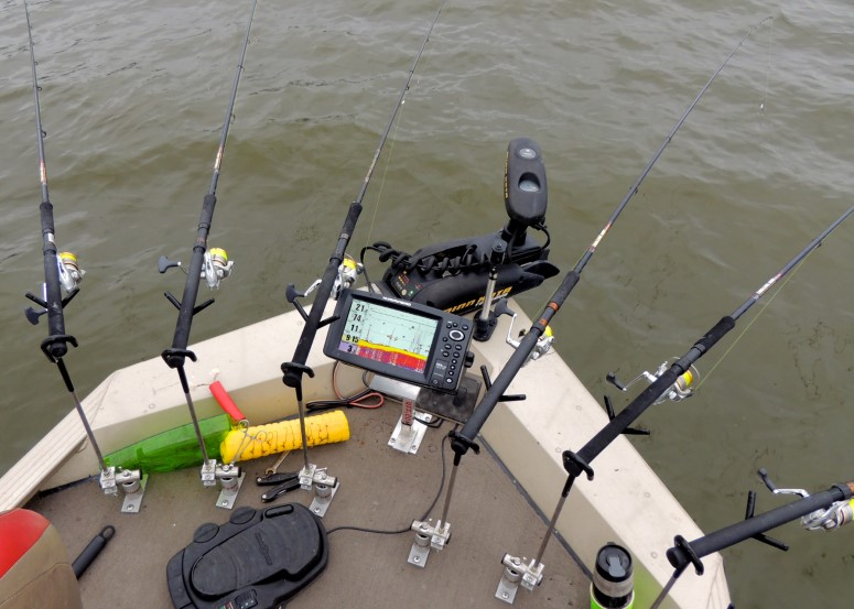 Crappie Stalkers are shown here on guide Jim Forrest's boat. They can be ordered customized for additional height and an angle to give knee room.
