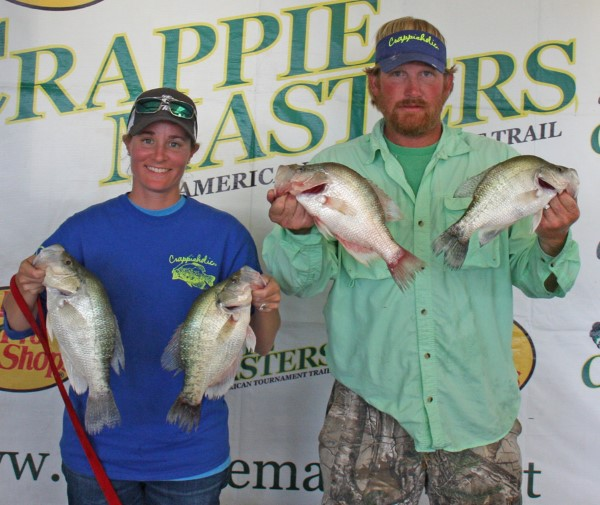 Elizabeth and Paul Turner were Crappie Masters Classic Runners-up, top male-female team of the classic, and top male-female team in the national points race.