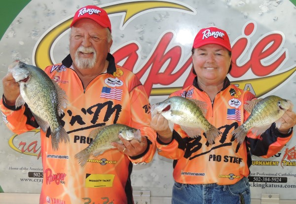 B'n'M prostaff anglers Jim and Barbara Reedy won Big Fish at the CUSA Classic with a 2.37-pound crappie.