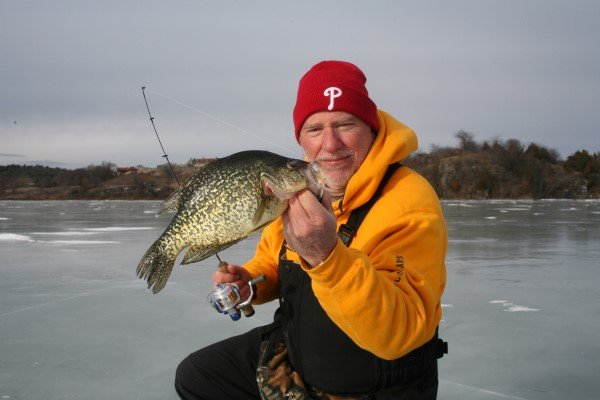 Spoons in the 1 to 1.5-inch up to 2 to 2.5-inch modes work great late in the day for spooning up crappie.