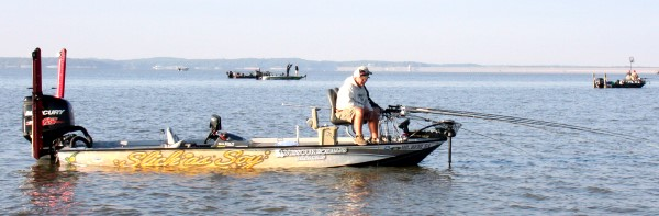 A well-rigged boat from front to back is a big investment. Sponsored teams like this one typically receive help in expenses making it possible for them to travel and fish more tournaments.