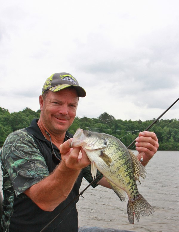 Steve Brown uses a drop-shot rig to get to hard-to-reach crappie deep in the brush.