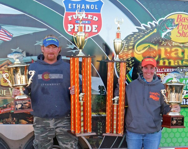 The team of Turner and Turner won the Crappie Masters D'Arbonne/ Louisiana State Championship along with $7600 in cash.