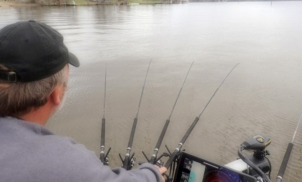 Billy Don Surface slow trolls ledges searching for quality crappie at D'Arbonne Lake.