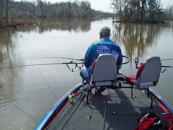 Spring is a good time to get into the backs of creeks and rivers looking for warmer water and small drops.