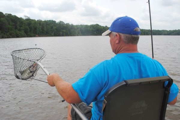 Netting a nice crappie from a river requires using basic current techniques to increase your odds for a bite.