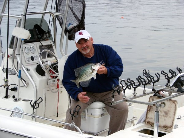 Doug Muench with a nice crappie taken by long lining.