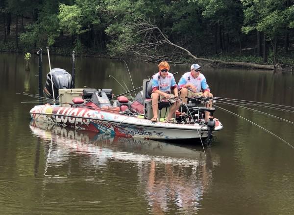 The Lucas Oil team of Watson/Morgan slow troll the river.