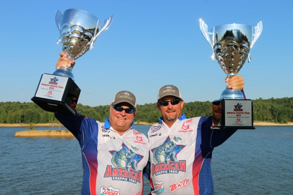Winners of the American Crappie Trail at Grenada, MS, Stephen Sullivan and Jamie Roberson.