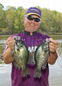 Dale Black, President of Gamma Lines (Black Knight Industries), enjoys pitching jigs with floats, using a 6-pound high-vis copolymer line.