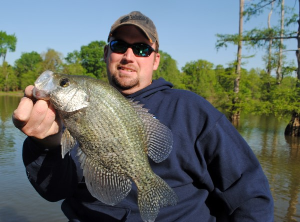 South Carolina crappie pro Matt Outlaw targets fish in non-traditional places and at non-traditional times, especially fishing shallow grass.