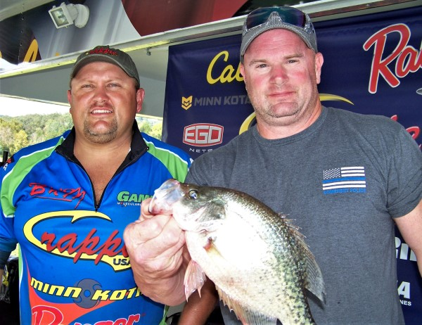 Chris Creech and Rodney Stevens were tied for Big Fish after day one with this 1.81-pound crappie.